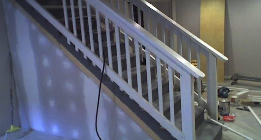 Put Basement Stairs Railing Puppies Founder