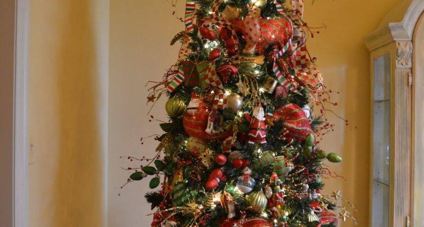 Put Mesh Ribbon Christmas Tree Photozzle