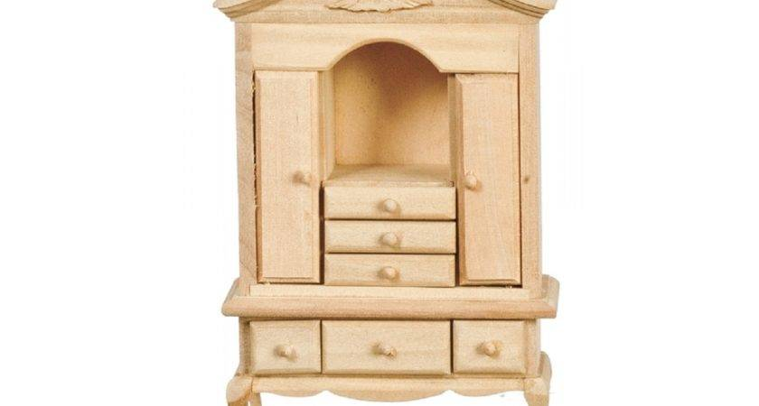 Queen Ann Cabinet Unfinished Bare Wood Furniture Melody