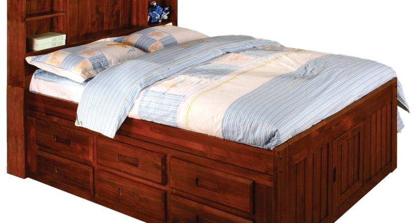 Queen Bed Shelf Headboard Cool South Shore Spark