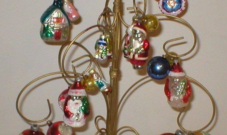 Rare Metal Christmas Tree Ornament Display Holder