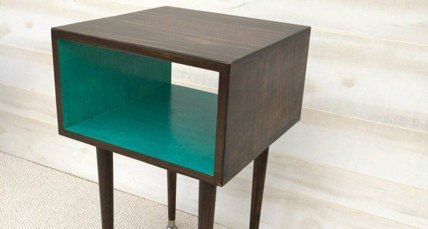 Ready Ship Side Table Mid Century Modern