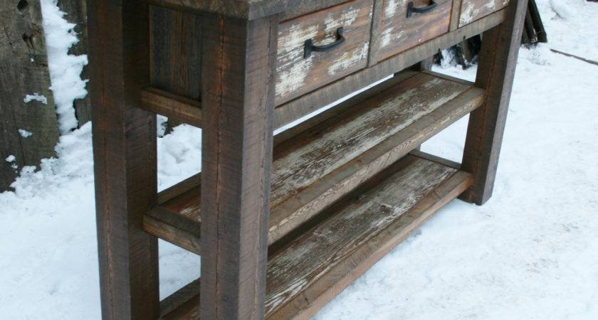 Reclaimed Rustic Console Table Echopeakdesign Etsy