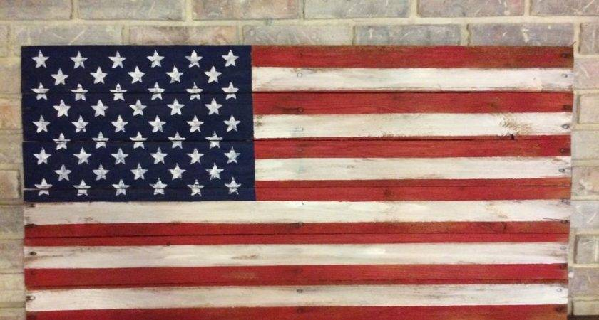 Reclaimed Wood Flag Pallet Rustic American