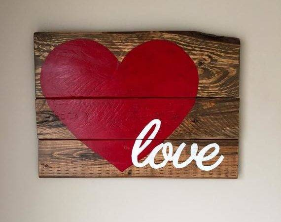 Reclaimed Wood Love Sign Handmade Rustic Fallentimbercrafts