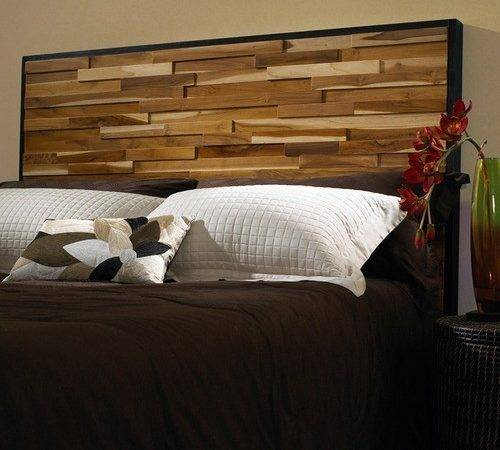 Reclaimed Wood Panel Headboard Modern Headboards