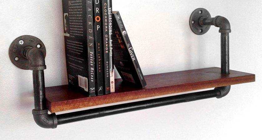 Reclaimed Wood Pipe Book Shelf Large Features