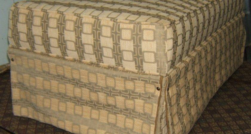 Recover Reupholster Ottoman Quick Simple Diy