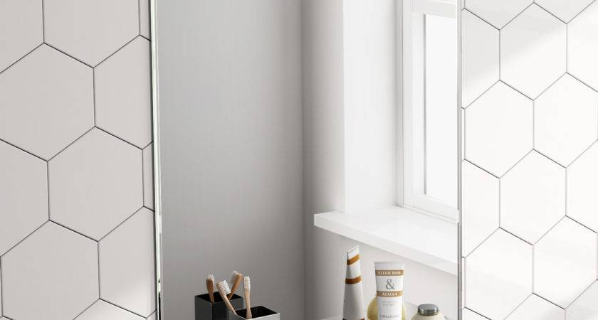 Rectangular Bathroom Mirror Glass Storage
