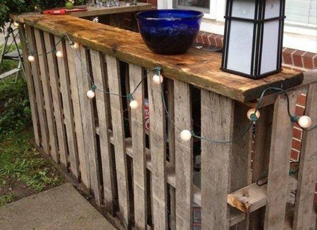 Recycled Pallet Outdoor Bar Ideas Furniture Projects