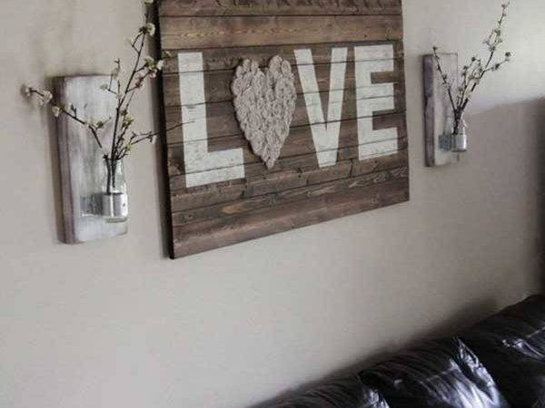 Recycled Pallet Wall Art Ideas Enhancing Your Interior