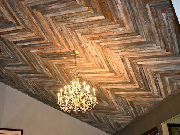 Recycled Pallet Wood Ceiling Designs Pallets