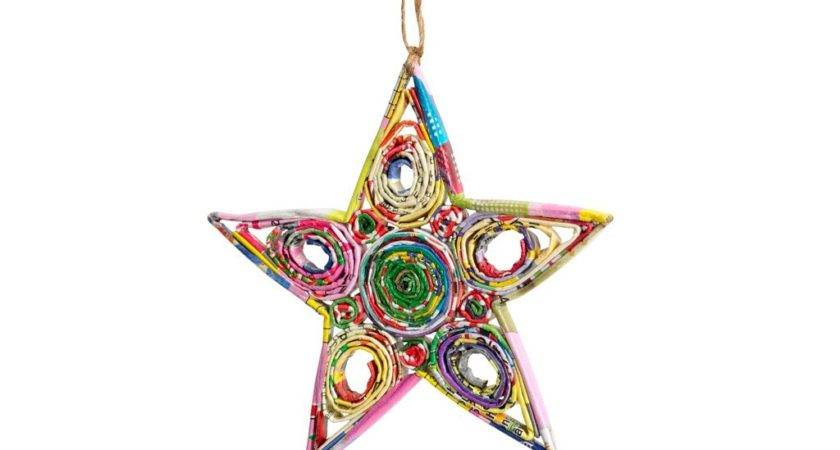 Recycled Paper Ornament Star