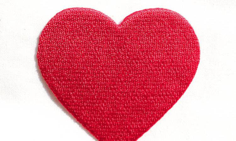 Red Heart Iron Patches Valentine Day Embroidery