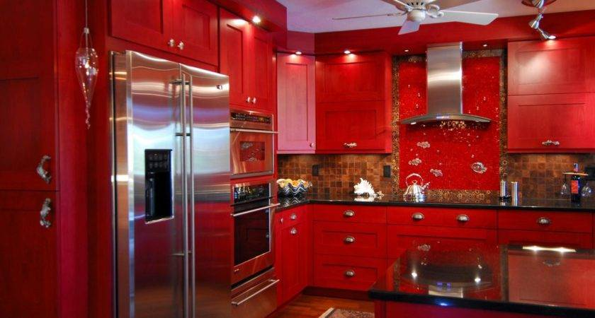 Red Kitchen Cabinets Dos Don Home Dreamy