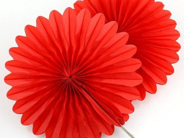 Red Tissue Paper Fan Decorations Pipii