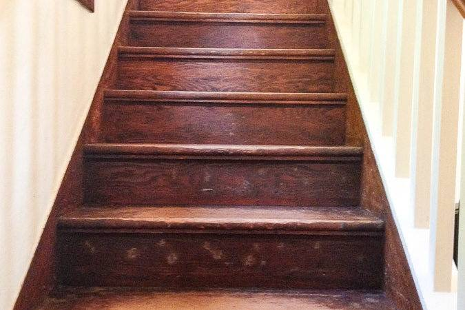 Refinish Old Wood Stairs She Holds Dearly