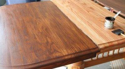 Refinish Stain Table Sand Wood Conditioner