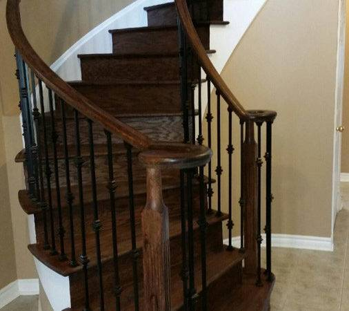 Refinish Stair Banister Refinished