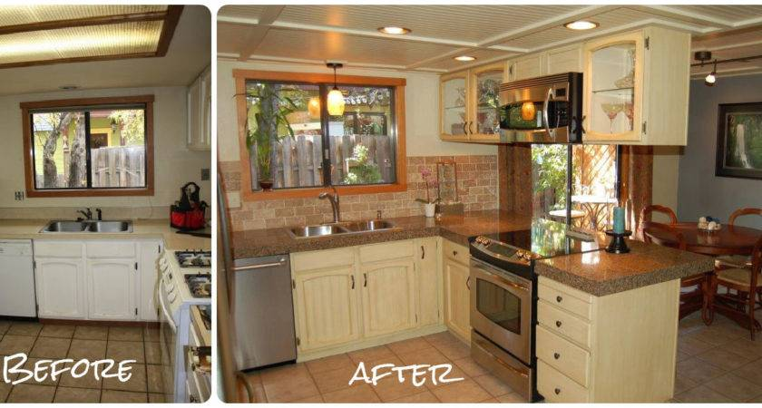 Refinished Kitchen Cabinets Before After