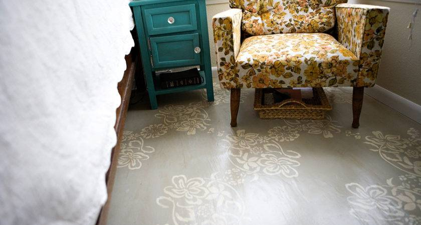 Refresheddesigns Green Idea Diy Painted Floors