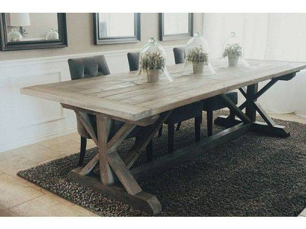 Remarkable Chic Gray Wash Dining Table Cozynest Home