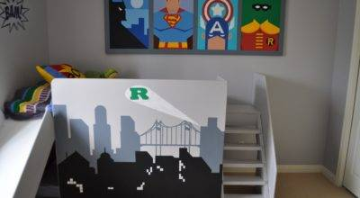 Remodelaholic Amazing Superhero Boys Room