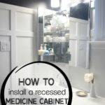 Remodelaholic Install Recessed Medicine Cabinet