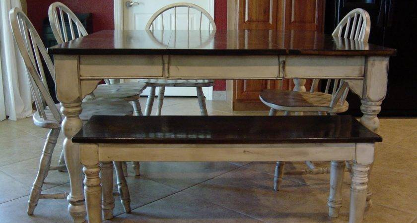 Remodelaholic Kitchen Table Refinished Distressed Look