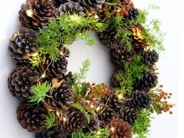 Remodelaholic Make Easy Diy Pinecone Wreath One Hour