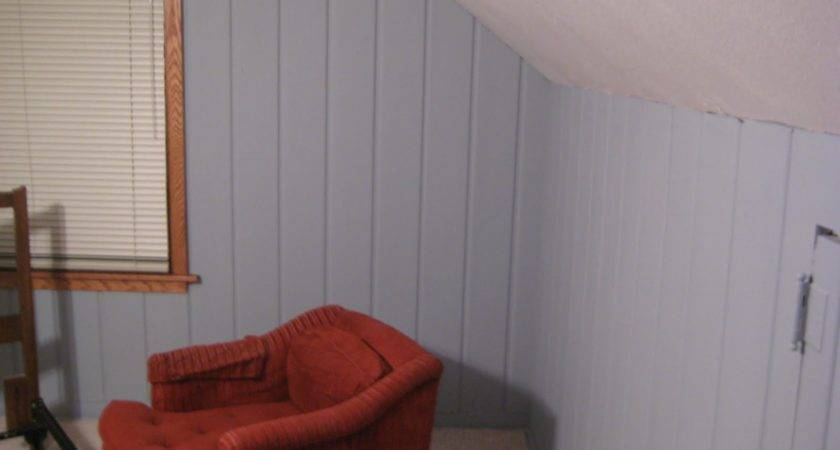 Remodelaholic Painting Over Knotty Pine Paneling