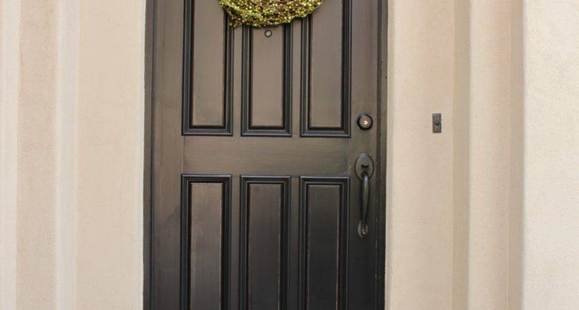 Remodelaholic Painting Wooden Exterior Door Black