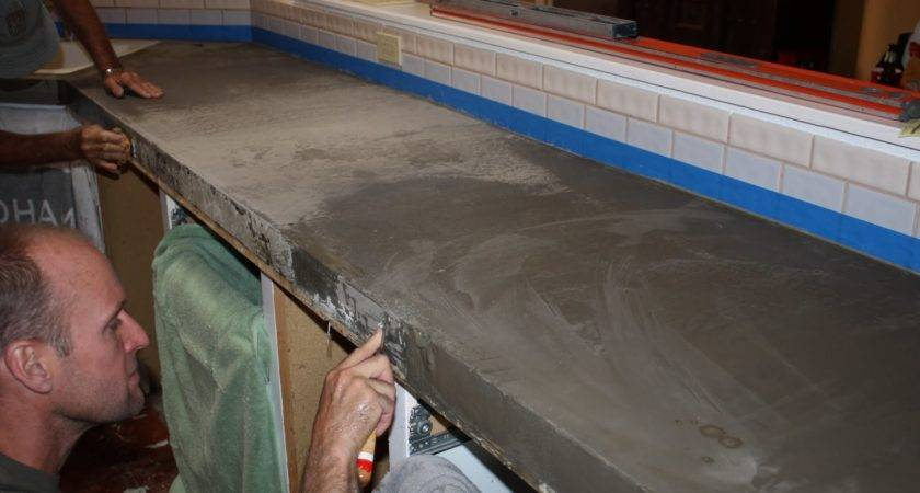 Remodelaholic Quick Install Concrete Countertops