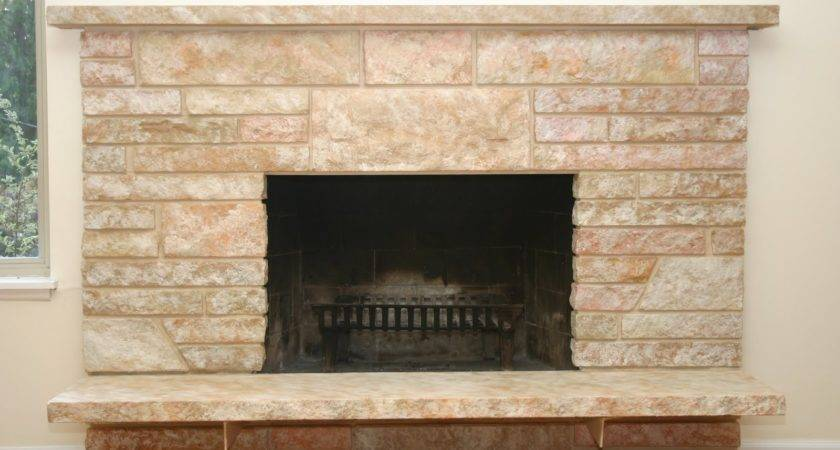 Remodelaholic Restoring Painted Stone Fireplace
