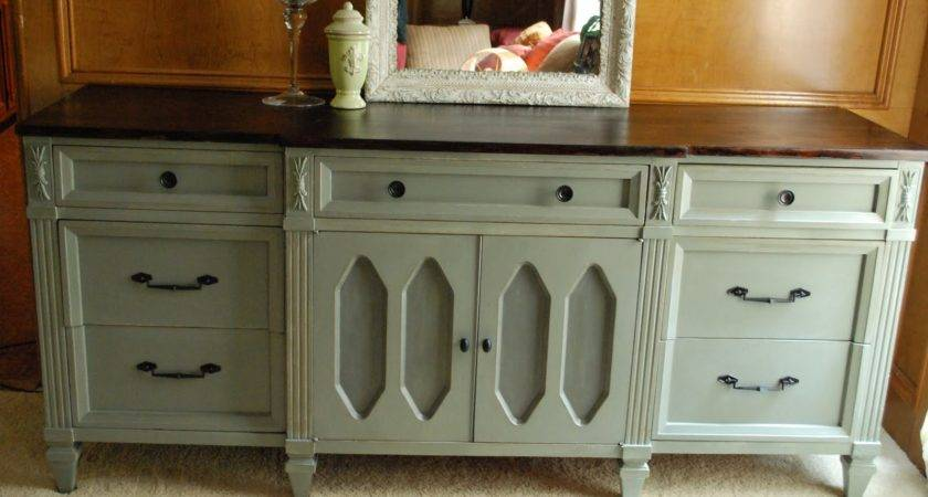 Remodelaholic Wooden Dresser Painted Green Furniture