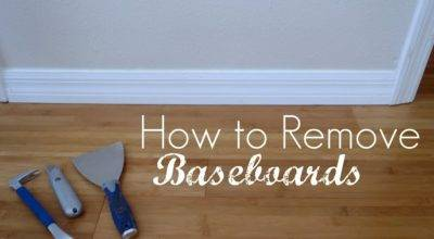Remove Baseboards Sew Woodsy