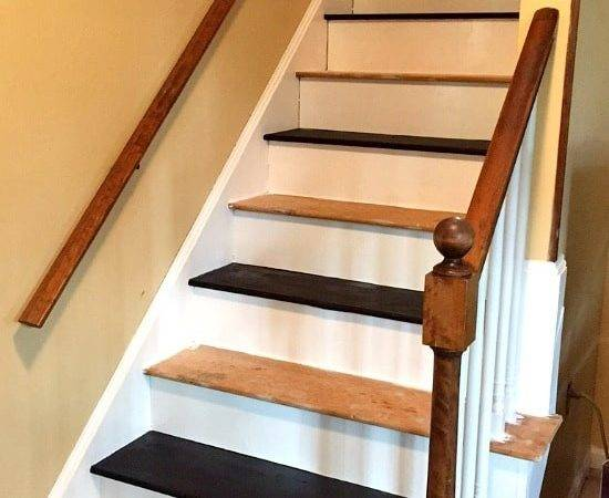 Remove Carpet Stairs Paint Them