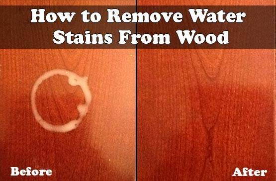 Remove Water Stains Wood Living Green