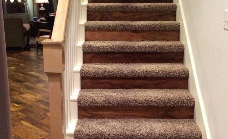 Replace Carpeted Stairs Hardwood Treads Floor Matttroy