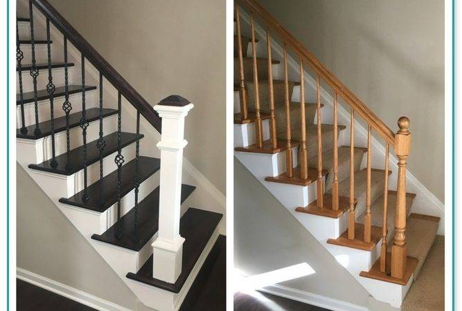 Replacing Spindles Carpeted Stairs
