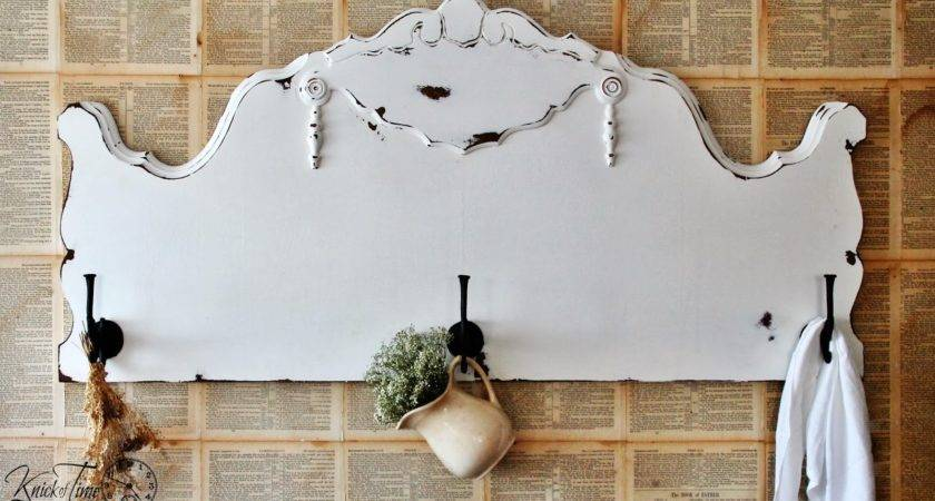 Repurposed Antique Headboard Into Coat Rack Knick Time