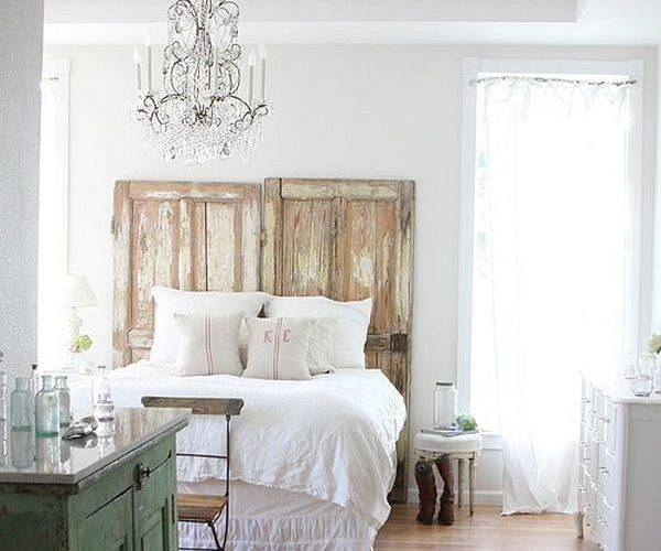 Repurposing Old Doors Bed Headboard