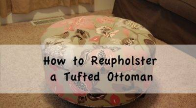 Reupholster Tufted Ottoman Diy Project Aholic