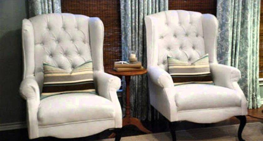Reupholster Wing Back Chair Youtube