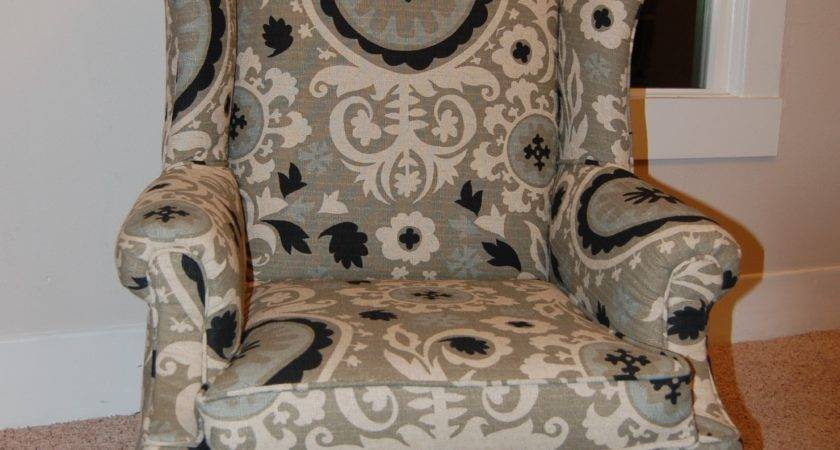 Reupholster Wingback Chair Diy Project Aholic