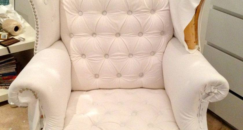 Reupholstering Classic Wingback Chair Artfromtheheartblog
