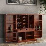 Richmond Rustic Solid Wood Expandable Bar Cabinet