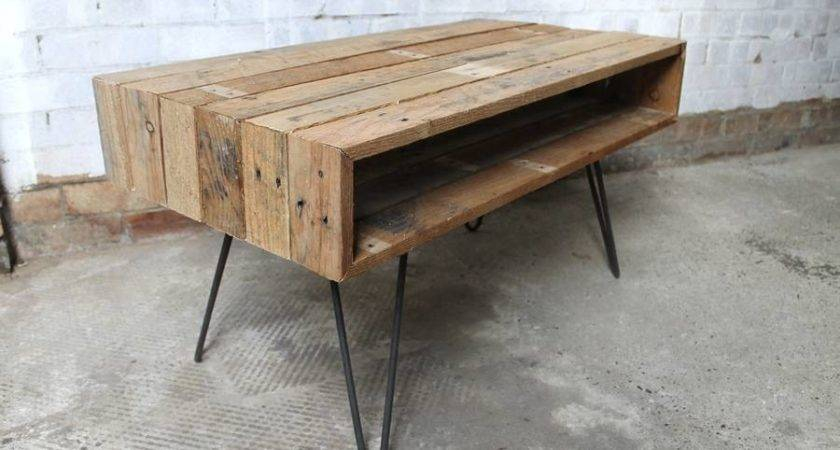 Ringed Coffee Table Wiith Hairpin Legs Gas Air