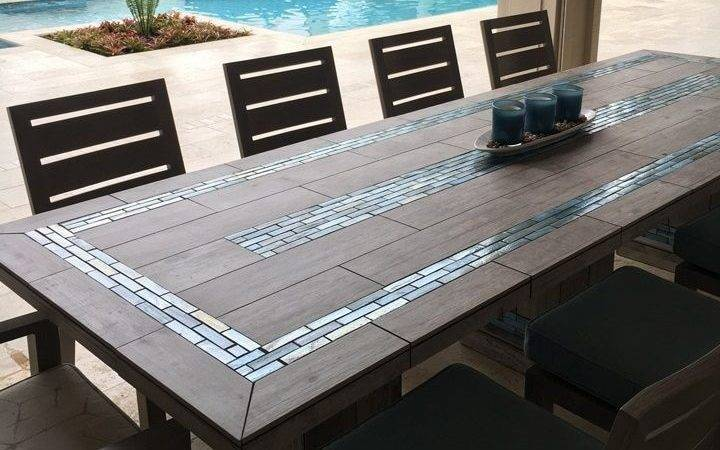 River Mosaic Tile Table Top Ideas Beautiful Outdoor