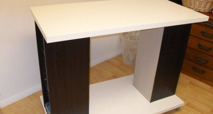 Rolling Craft Table Ikea Hackers